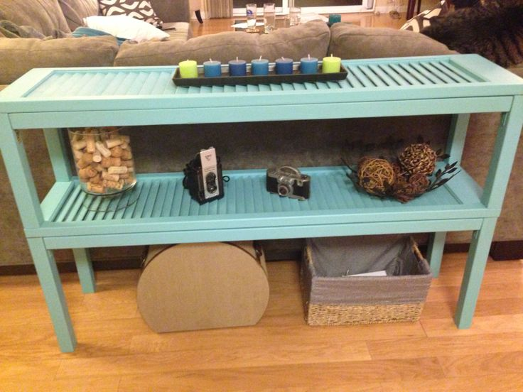 Coffee Table using Wooden Shutters