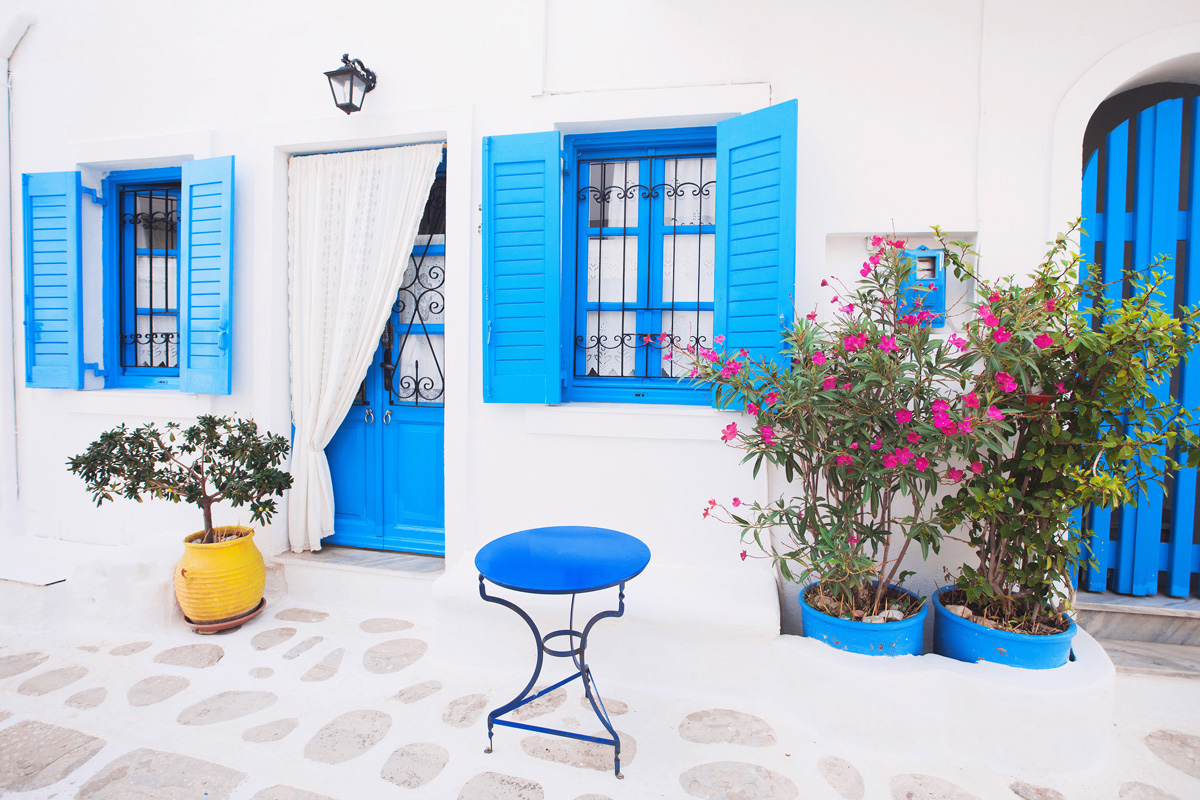 External Window Shutters in Greece