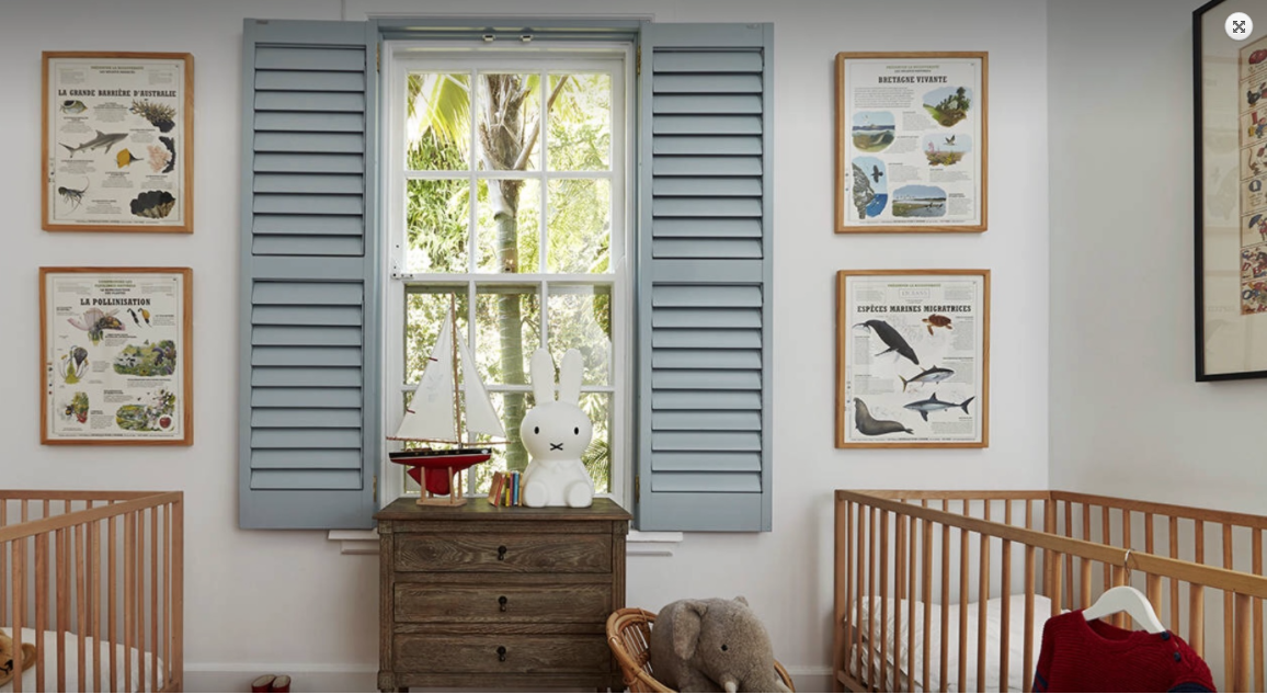Wooden Shutters in a Childs Nursery