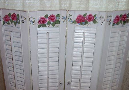 Wooden Shutters as a Privacy Screen