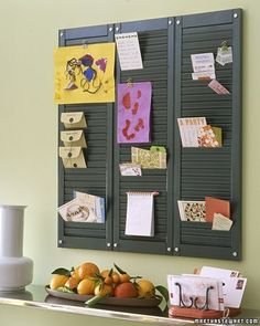 Pinboard using Wooden Shutters