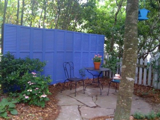 Wooden Shutters as a Privacy Screen in your garden