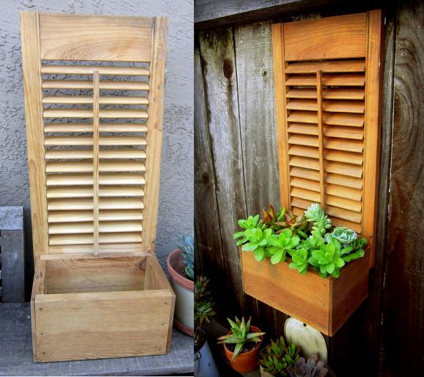 Garden boxes using wooden shutters