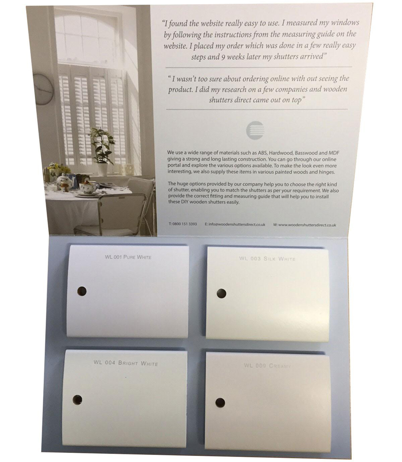 Wooden Shutters Direct Sample Packs